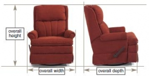 RV Chair and Recliner Measurement