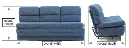 RV Sofas and Sleepers Measurement Guide